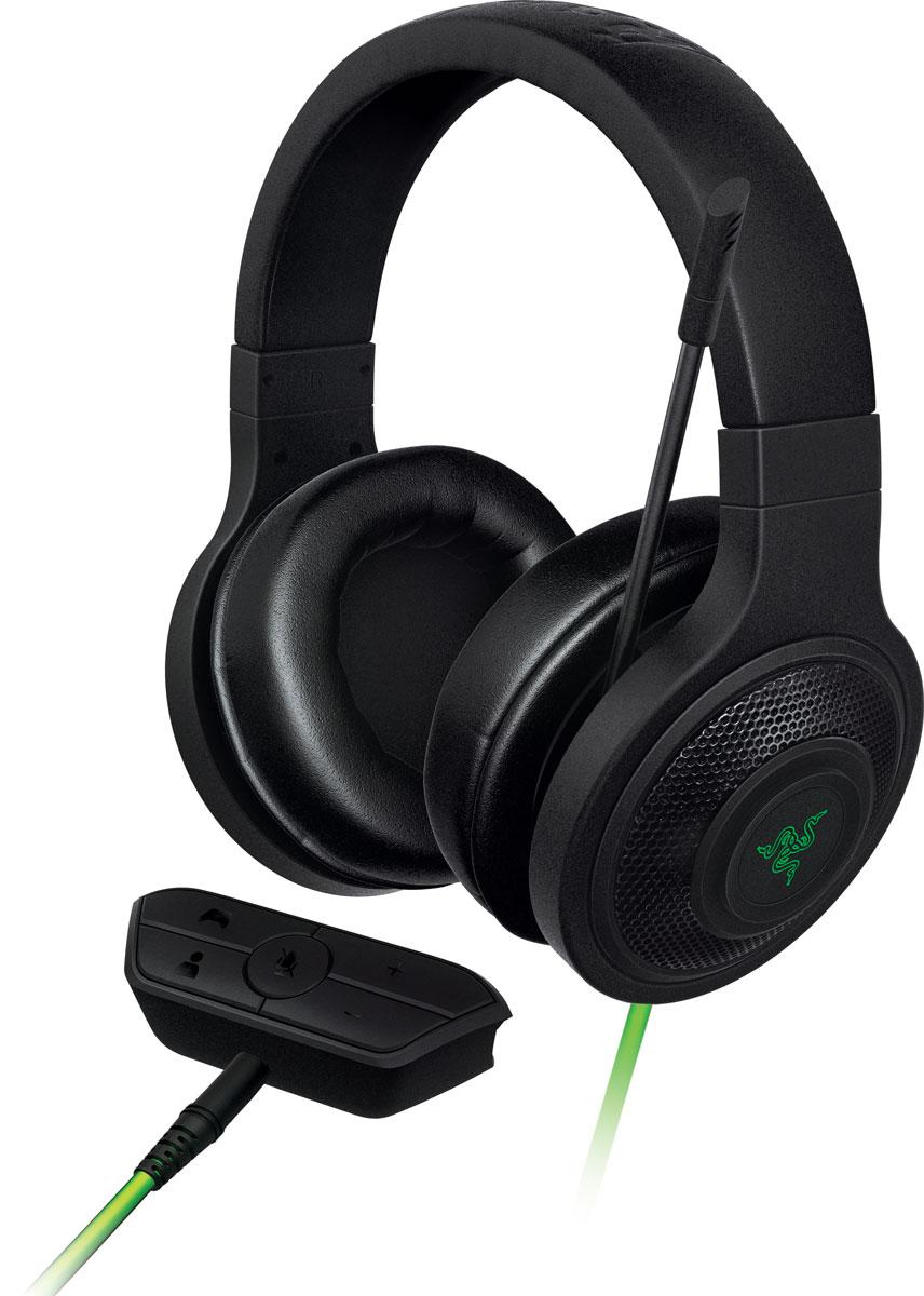 Razer Kraken for Xbox One игровые наушникиRZ04-01140100-R3M1Проверенная лучшими киберспортивными геймерами игровая гарнитура Razer Kraken for Xbox One специально разработана для передачи четкого насыщенного звука с изоляцией от внешнего шума, так что вы часами можете наслаждаться звуком высокого качества из больших 40 мм динамиков на неодимовых магнитах. Однонаправленный аналоговый микрофон исключает любую вероятность искажения передачи голоса и, кроме того, легко складывается, если вы им не пользуетесь. Благодаря встроенному стереоадаптеру вам больше не придется отрываться от контроллера приставки Xbox One, чтобы выключить звук на микрофоне, увеличить громкость игры или чата. Когда все кнопки управления под рукой, не нужно останавливать игру, чтобы дотянуться до контроллера звука. Гарнитура Razer Kraken для Xbox One снабжена большими динамиками размером 40 мм с неодимовыми магнитными головками, что гарантирует кристально-чистое звучание в высоких и средних диапазонах и сочные глубокие басы. Чашки...