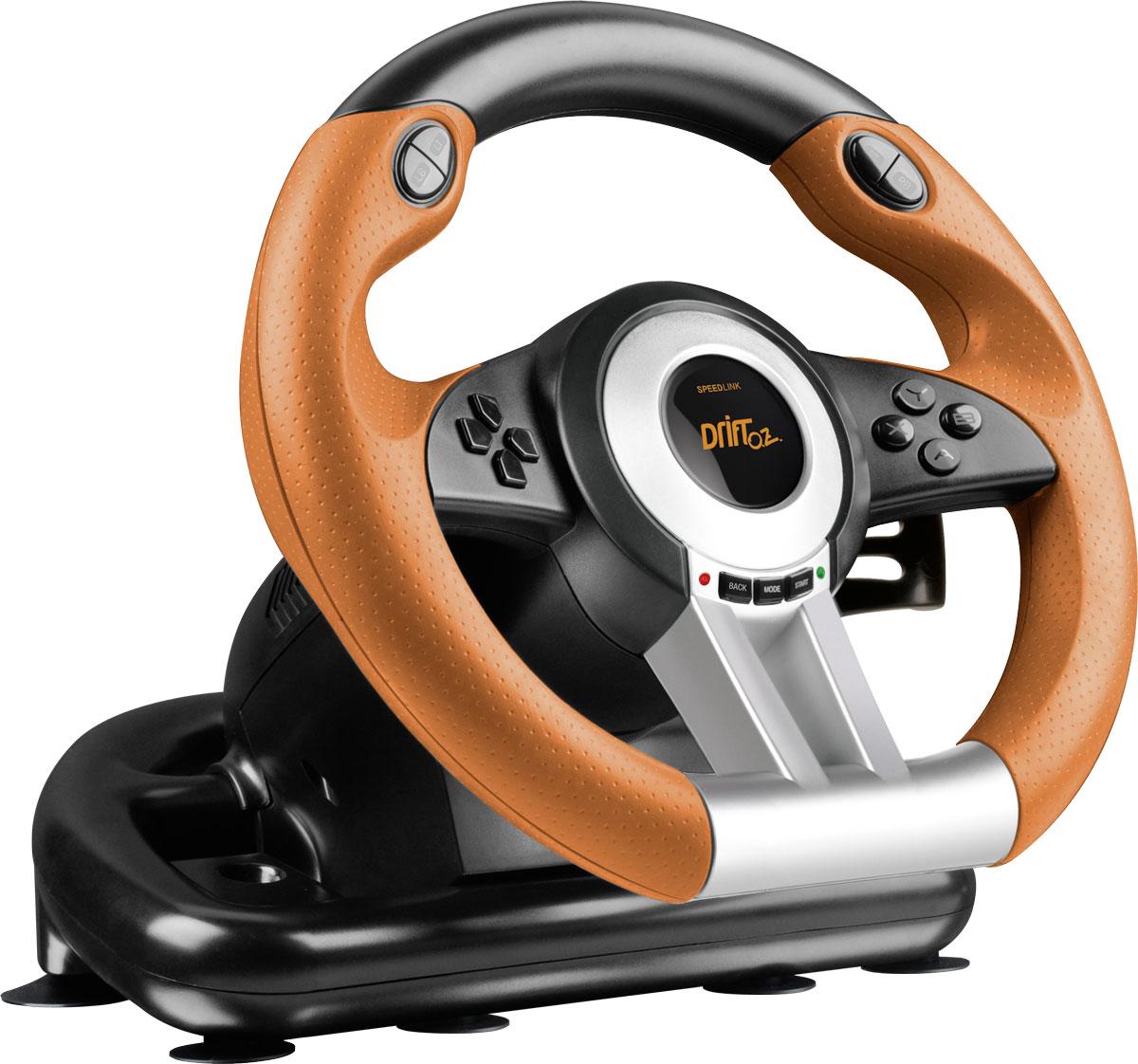 Speedlink Drift O.Z. Racing Wheel, Black Orange руль
