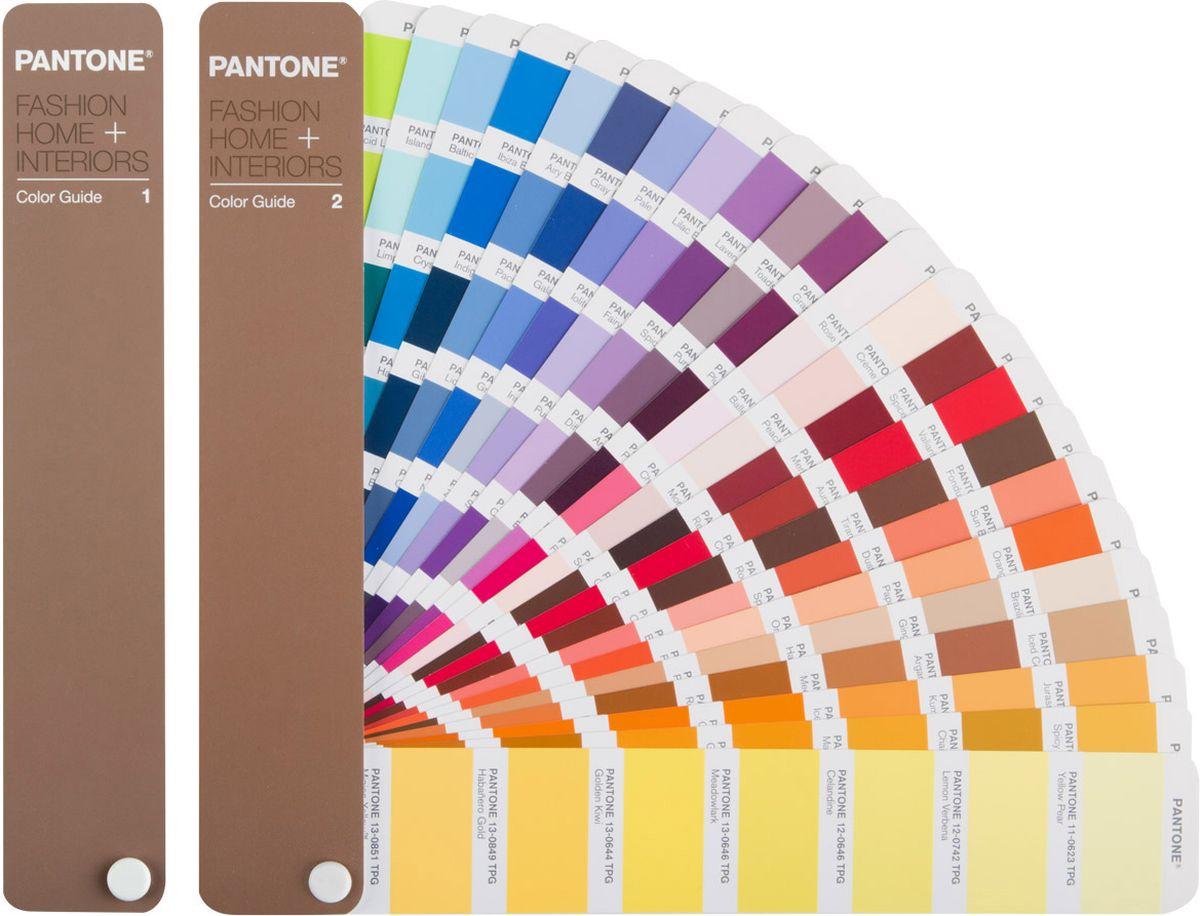 Pantone FHIP110N FHI Color Guide, цветовой справочникFHIP110NPantone FHIP110N FHI Color Guide - незаменимый инструмент для дизайнеров, пре-пресс специалистов, технологов и печатников. Новое издание цветового справочника Color Guide – это 2310 цветов библиотеки Fashion, Home и Interiors, созданные на базе новых, более дружественных к окружающей среде рецептур красителей с новым суффиксом для номеров цвета Pantone – TPG (Textile Paper – Green, Текстильные цвета на бумаге - Зеленый). Из пигментных формул были удалены все соединения свинца и хрома, при сохранении тех же цветов, как в предыдущих версиях с суффиксом TPX. Новые рецептуры, сделавшие продукт более экологически чистым, позволяют ему соответствовать самым строгим стандартам Евросоюза и других стран.