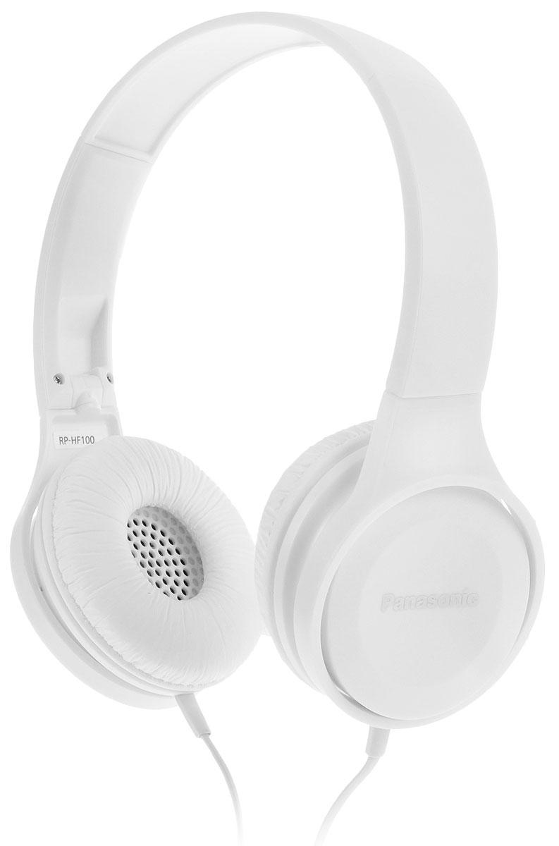 Panasonic RP-HF100GC-W, White наушникиRP-HF100GC-WНаушники закрытого типа Panasonic RP-HF100GC с 30-миллиметровыми динамиками подарят вам неизменно мощный и сбалансированный звук, где бы вы не находились дома, или в пути. Благодаря складной конструкции, наушники удобно брать с собой повсюду. Они очень компактные и не займут много места. Комфортное прослушивание музыки Оголовье с обеих сторон обрезано под углом, обеспечивающим эргономичную конструкцию, благодаря чему наушники надежно прилегают к ушам и голове. Также они удобны в носке из-за своего легкого веса.