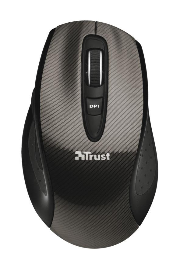 Trust Kerb Wireless Laser Mouse, Black мышь