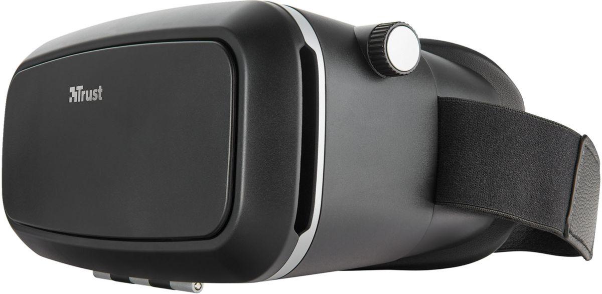 Trust Exos Virtual Reality Glasses, Black очки виртуальной реальности21179Trust Exos Virtual Reality Glasses - это универсальные очки для восприятия виртуальной реальности: поместите в них свой смартфон и играйте в виртуальные игры с эффектом погружения, смотрите фильмы и видео в формате 3D. Погрузитесь в трехмерную виртуальную реальность с помощью вашего телефона. Смотрите трехмерные и панорамные видеоролики с YouTube и других видеосайтов. Используйте возможности дополненной реальности при изучении каталогов и брошюр, посещении музеев, просмотре видео. Подходит для любого смартфона с диагональю до 6 дюймов. Попробуйте любую из более чем 100 игр с эффектом виртуальной реальности, доступных в магазинах Apple App Store и Google Play. Настройка длины головного ремня, межзрачкового и фокусного расстояния.