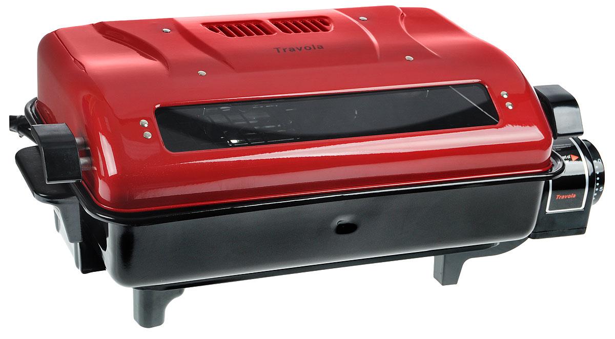 Travola KYS-368B электрогрильKYS-368BTravola KYS-368B - мульти-гриль для рыбы, птицы и мяса. Прибор имеет верхний и нижний нагрев, что позволяет с легкостью готовить мясо сразу со всех сторон. Таймер с функцией автовыключения позволит задать время приготовления определенного вида блюда. Антипригарное покрытие и съемный поддон для жира облегчат уход и чистку прибора.