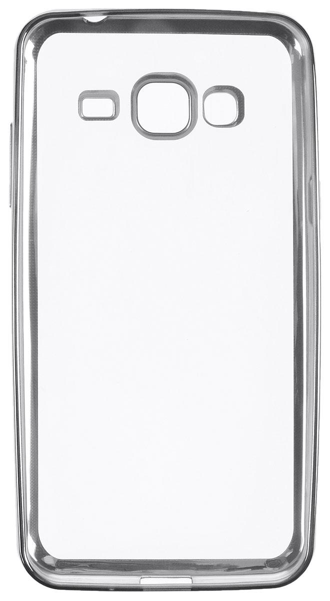 Skinbox 4People Silicone Chrome Border чехол-накладка для Samsung Galaxy J3 (2016), Dark Silver2000000105451Чехол Skinbox 4People Silicone Chrome Border надежно защищает ваш смартфон от внешних воздействий, грязи, пыли, брызг. Он также поможет при ударах и падениях, не позволив образоваться на корпусе царапинам и потертостям. Чехол обеспечивает свободный доступ ко всем функциональным кнопкам смартфона и камере.