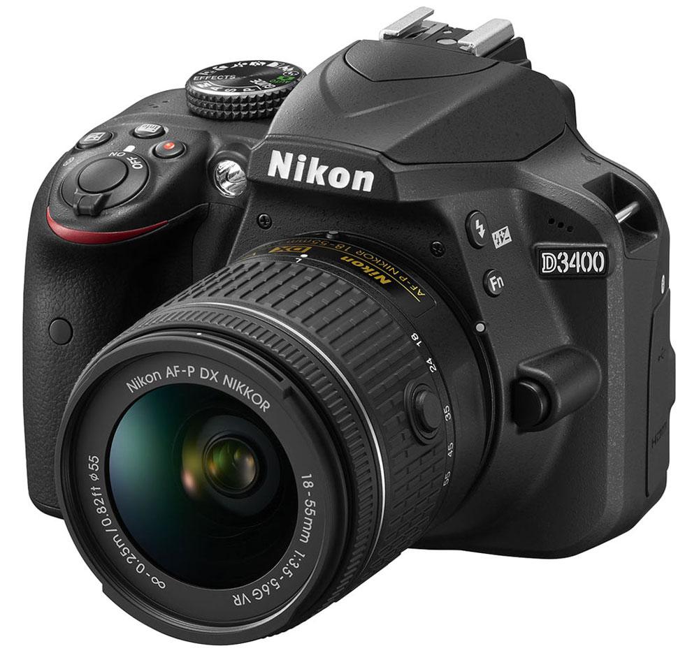 Nikon D3400 Kit 18-55 AF-P VR, Black цифровая зеркальная камера nikon d3400 kit 18 105 vr vba490k003 цифровой зеркальный фотоаппарат black