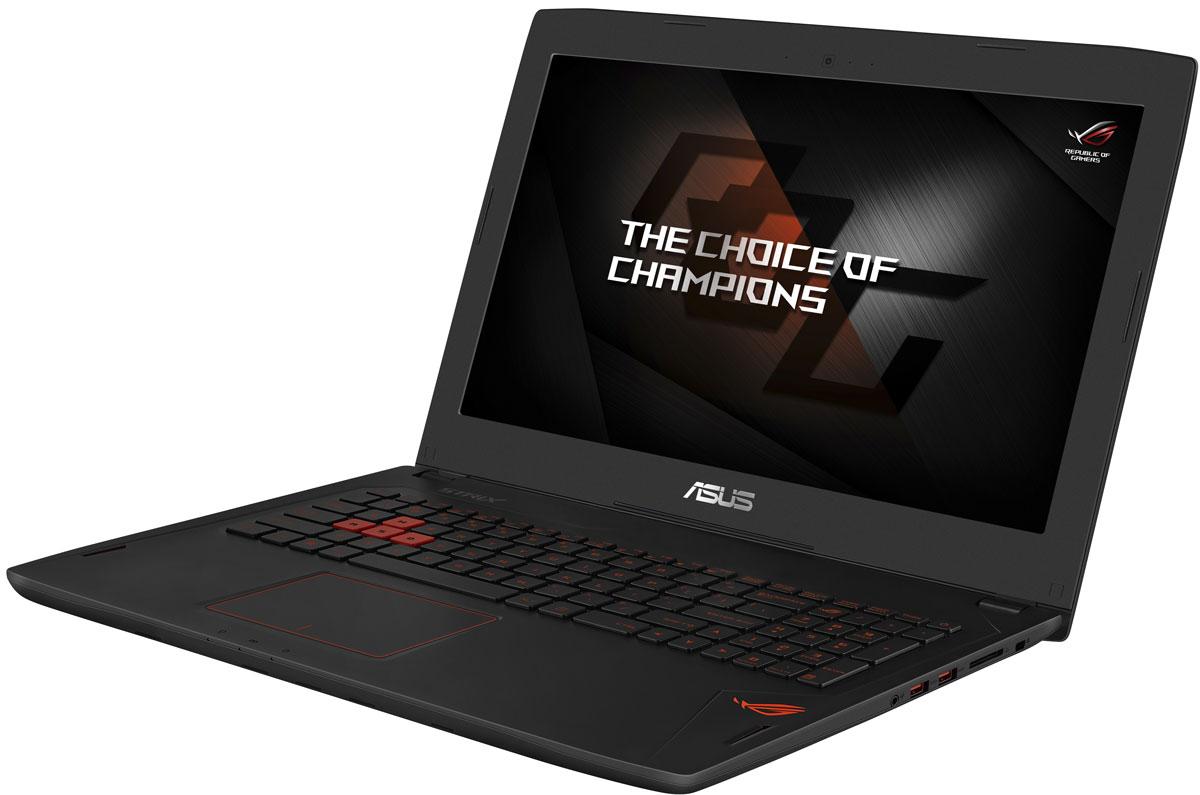 ASUS ROG GL502VM, Black (GL502VM-FY053T)GL502VM-FY053TНоутбук Asus ROG GL502VM - это новейший процессор Intel и геймерская видеокарта NVIDIA GeForce GTX в компактном и легком корпусе. С этим мобильным компьютером вы сможете играть в любимые игры где угодно. В аппаратную конфигурацию ноутбука входит процессор Intel Core i7 шестого поколения и дискретная видеокарта NVIDIA GeForce GTX 1060 с поддержкой Microsoft DirectX 12. Мощные компоненты обеспечивают высокую скорость в современных играх и тяжелых приложениях, например при редактировании видео. Данная модель оснащается 15-дюймовым IPS-дисплеем с широкими (178°) углами обзора, разрешение которого составляет 1920x1080 (Full-HD) пикселей. В ноутбуке реализована высокоэффективная система охлаждения с тепловыми трубками и двумя вентиляторами, независимо друг от друга обслуживающими центральный и графический процессоры. Продуманное охлаждение - залог стабильной работы мобильного компьютера даже во время самых жарких виртуальных сражений. ...