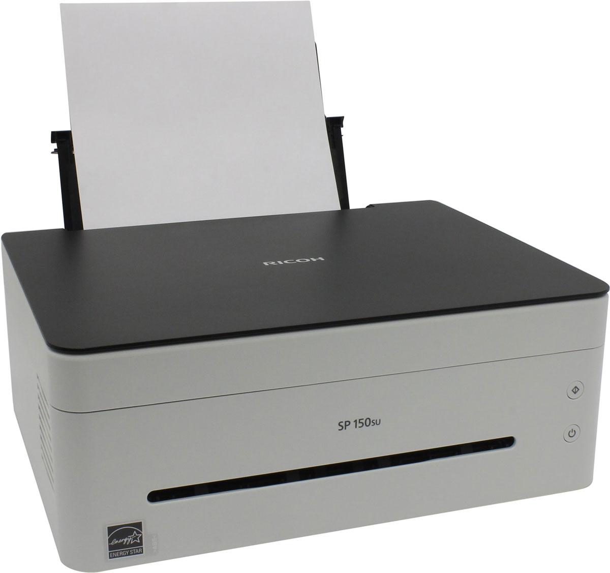 Ricoh SP 150SU МФУ408003МФУ Ricoh SP 150SU сочетает в себе элегантный дизайн, интуитивно понятное управление и скорость печати 22 страницы в минуту. Простота установки драйвера с автозапуском виртуальной панели управления позволяет начать работу практически сразу. Функции принтера, копира и цветного сканера обеспечат всю работу с документами как в небольшом офисе, так и дома. Простота, удобство, функциональность, скорость, качество и надежность — все это в компактном корпусе на вашем столе. Функции печати, копирования и сканирования в одном элегантном корпусе, который занимает минимум места на рабочем столе. Виртуальная панель управления с ПК обеспечивает удобную интуитивно понятную работу. Картридж все в одном можно заменить буквально одним движением. Все быстро, просто и надежно.