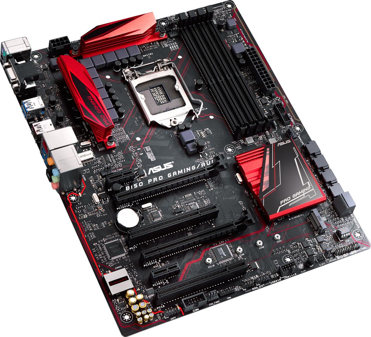 Asus B150 Pro Gaming/Aura материнская платаB150 PRO GAMING/AURAМатеринская плата Asus B150 Pro Gaming/Aura создана для игр и учитывает высокие требования к игровым платам со стороны профессиональных геймеров. Среди преимуществ плат ASUS – высокая производительность, гарантированная надежность и совместимость с огромным количеством компьютерных компонентов. Каждый экземпляр платы проходит строгие испытания для безотказного функционирования в игровой среде. Инженеры ASUS, сами являющиеся увлеченными геймерами, привлекают к разработке материнских плат лучших в мире компьютерных игроков, чтобы создавать невероятные функции и технологии, которых ждут геймеры. С B150 Pro Gaming/Aura вы сможете испытать фантастические игровые возможности на грани реальности. Intel B150 Express – это новейший чипсет, оптимизированный для работы с процессорами Intel серий Core i7, Core i5, Core i3, Pentium и Celeron, устанавливаемыми в разъем LGA1151. Он отличается высокой стабильностью, производительностью и пропускной способностью. B150...