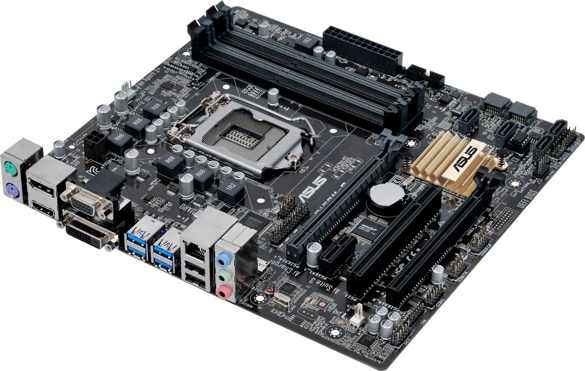 Asus B150M-C материнская платаB150M-CМатеринская плата Asus B150M-C совместима с процессорами Intel для разъема LGA1151, которые включают в себя интегрированное графическое ядро и контроллеры памяти и шины PCI Express с поддержкой двухканальной DDR4 и 16 линий PCI Express 3.0/2.0. Intel B150 Express – это новейший чипсет, оптимизированный для работы с процессорами Intel серий Core i7, Core i5, Core i3, Pentium и Celeron, вставляемыми в разъем LGA1151. Он отличается высокой стабильностью, производительностью и пропускной способностью. B150 поддерживает до шести портов USB 3.0, шесть портов SATA 6 Гбит/с, а также позволяет использовать графическое ядро, встроенное в современные процессоры Intel. Intel SBA (Small Business Advantage) – это сочетание аппаратных и программных средств повышения безопасности и производительности компьютерных систем, предназначенных для корпоративных пользователей. Материнская плата Asus B150M-C может похвастаться долгим сроком службы за счет...