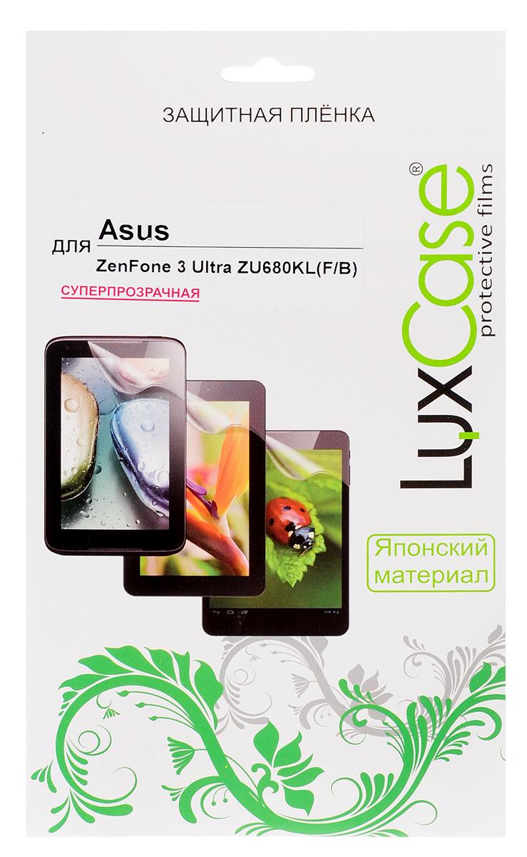 LuxCase защитная пленка для Asus ZenFone 3 Ultra ZU680KL (F&B), суперпрозрачная51792Комплект защитных пленок LuxCase для Asus ZenFone 3 Ultra (ZU680KL) сохранит экран и заднюю сторону смартфона гладкими и предотвратит появление царапин и потертостей. Структура пленок позволяет им плотно удерживаться без помощи клеевых составов и выравнивать поверхность при небольших механических воздействиях. Пленки практически незаметны на смартфоне и сохраняют все характеристики цветопередачи и чувствительности сенсора.