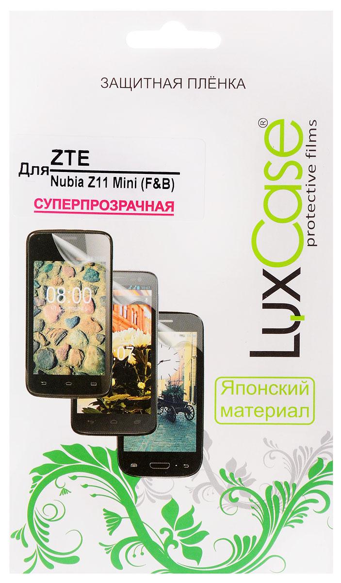 LuxCase защитная пленка для ZTE Nubia Z11 Mini (F&B), суперпрозрачная51487Комплект защитных пленок LuxCase для ZTE Nubia Z11 Mini сохранят экран и заднюю сторону смартфона гладкими и предотвратят появление царапин и потертостей. Структура пленок позволяет им плотно удерживаться без помощи клеевых составов и выравнивать поверхность при небольших механических воздействиях. Пленки практически незаметны на смартфоне и сохраняют все характеристики цветопередачи и чувствительности сенсора.