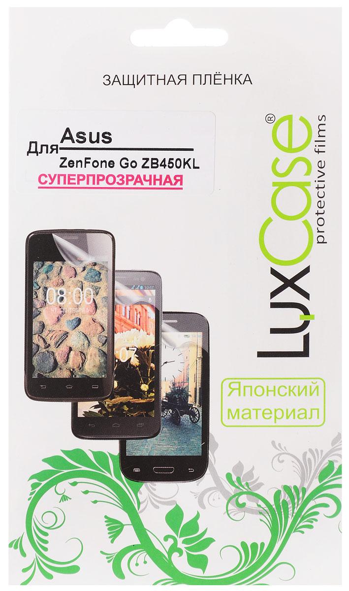 LuxCase защитная пленка для Asus Zenfone Go ZB450KL, суперпрозрачная51786Защитная пленка LuxCase для Asus Zenfone Go (ZB450KL) сохраняет экран смартфона гладким и предотвращает появление на нем царапин и потертостей. Структура пленки позволяет ей плотно удерживаться без помощи клеевых составов и выравнивать поверхность при небольших механических воздействиях. Пленка практически незаметна на экране смартфона и сохраняет все характеристики цветопередачи и чувствительности сенсора.
