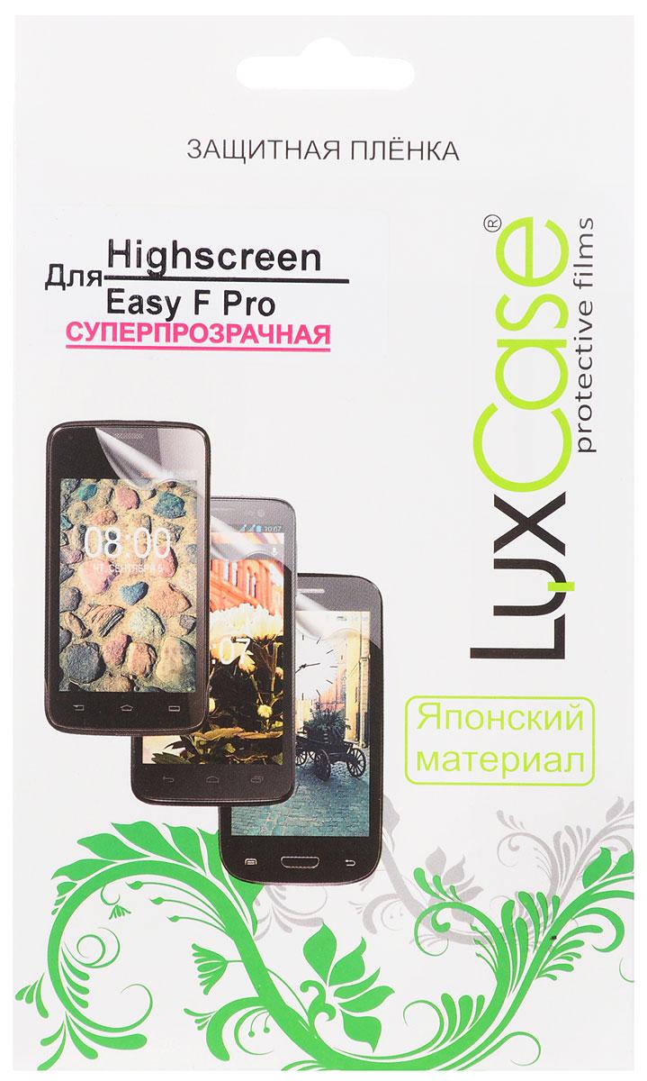 LuxCase защитная пленка для Highscreen Easy F Pro, суперпрозрачная51567Защитная пленка LuxCase для Highscreen Easy F Pro сохраняет экран смартфона гладким и предотвращает появление на нем царапин и потертостей. Структура пленки позволяет ей плотно удерживаться без помощи клеевых составов и выравнивать поверхность при небольших механических воздействиях. Пленка практически незаметна на экране смартфона и сохраняет все характеристики цветопередачи и чувствительности сенсора.