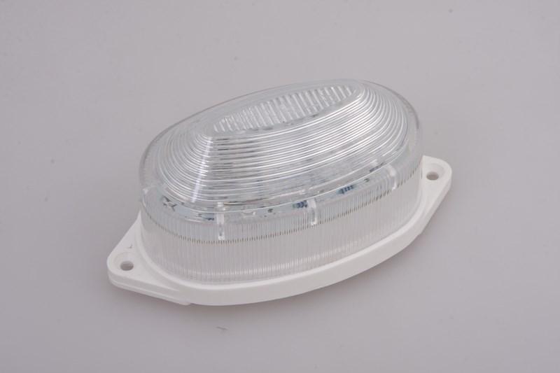 Лампа-строб Neon-Night, накладная, 30 LED, цвет: зеленый415-114Строб-лампы пользуются большой популярностью в декоративной осветительной рекламе. Яркие вспышки хорошо привлекают внимание, как на больших, так и на малых расстояниях. Использование новейших светодиодных технологий позволяет увеличить ресурс ламп и в течении многих лет выполнять свою функцию. В корпусе лампы размещены крепежные отверстия, что позволяет установить лампу на любую поверхность. Строб гораздо сильнее и быстрее привлекает внимание, чем другие источники света и применяют его чаще всего в развлекательных целях. Грамотное использование таких ламп может сделать любую наружную рекламу очень эффектной.