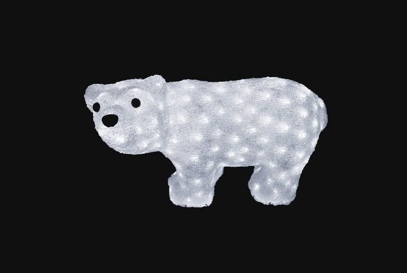 Фигура акриловая светодиодная Neon-Night Белый мишка, 24 LED, 4,5В, 15 х 25 см513-252Акриловые фигуры за несколько лет вызвали большой интерес у дизайнеров и частных клиентов. С каждым годом расширяется не только ассортимент акриловых фигур, но и появляются новые технологии нанесения акрила. Эти яркие, светящиеся объемные фигуры, состоящие из металлического каркаса, акрила и светодиодов, применяются для оформления и создания новогодней атмосферы в кафе, ресторанах, торговых центрах, магазинах, на площадях и перед входом, а также просто в частных домах и квартирах. Все фигуры укомплектованы понижающим трансформатором , что обеспечивает безопасность при контактировании, а так же имеют степень защиты IP 44, что позволяет использовать их как в помещении, так и на улице. Акриловая светодиодная фигура Белый мишка высотой 25 см, светящаяся более чем 20 ярких диодов, выполнена по специальной технологии нанесения акрила имитируя шерстяной покров реального животного. Она позволит Вам создать ту самую, настояющую новогоднюю атмосферу и принести сотни радостных улыбок.
