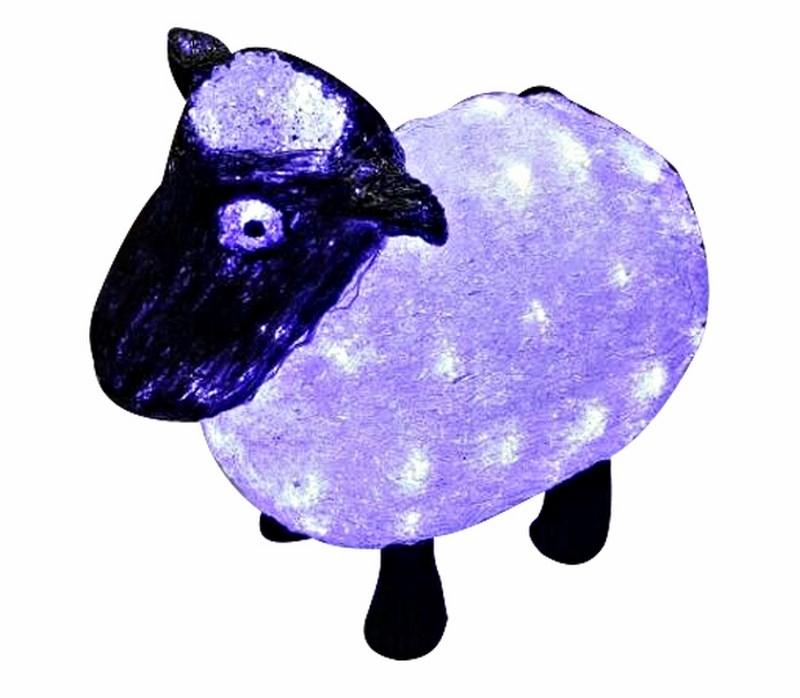 Фигура акриловая светодиодная Neon-Night Овца, 56 LED, 30 см513-401Акриловые фигуры за несколько лет вызвали большой интерес у дизайнеров и частных клиентов. С каждым годом расширяется не только ассортимент акриловых фигур, но и появляются новые технологии нанесения акрила. Эти яркие, светящиеся объемные фигуры, состоящие из металлического каркаса, акрила и светодиодов, применяются для оформления и создания новогодней атмосферы в кафе, ресторанах, торговых центрах, магазинах, на площадях и перед входом, а также просто в частных домах и квартирах. Все фигуры укомплектованы понижающим трансформатором , что обеспечивает безопасность при контактировании, а так же имеют степень защиты IP 44, что позволяет использовать их как в помещении, так и на улице. Акриловая фигура Овца символ наступающего 2015года.