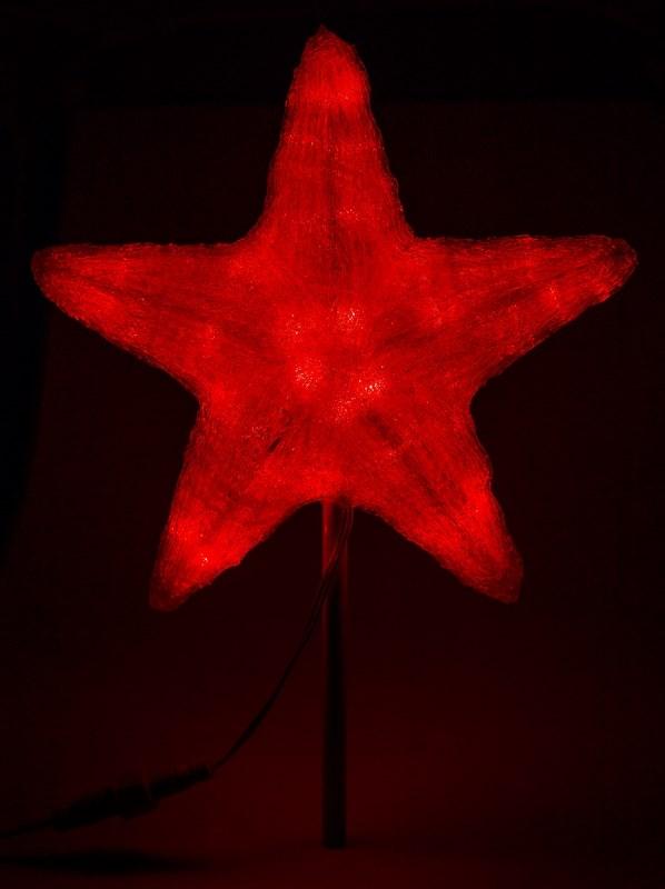Фигура акриловая Neon-Night Звезда, светодиодная, 45 LED, цвет: красный, 30 см513-432Акриловые фигуры за несколько лет вызвали большой интерес у дизайнеров и частных клиентов. С каждым годом расширяется не только ассортимент акриловых фигур, но и появляются новые технологии нанесения акрила. Эти яркие, светящиеся объемные фигуры, состоящие из металлического каркаса, акрила и светодиодов, применяются для оформления и создания новогодней атмосферы в кафе, ресторанах, торговых центрах, магазинах, на площадях и перед входом, а также просто в частных домах и квартирах. Все фигуры укомплектованы понижающим трансформатором , что обеспечивает безопасность при контактировании, а так же имеют степень защиты IP 44, что позволяет использовать их как в помещении, так и на улице.