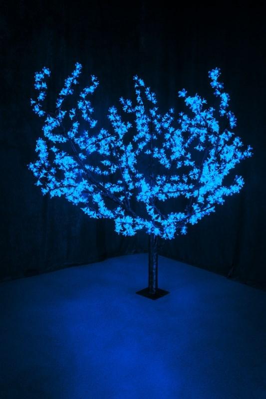 Светодиодное дерево Neon-Night Сакура, цвет: синий, диаметр кроны 180 см, высота 150 см531-103Световое дерево Сакура светодиодное, диаметр 1,8 м, высота 1,5 м, 864 лепестка