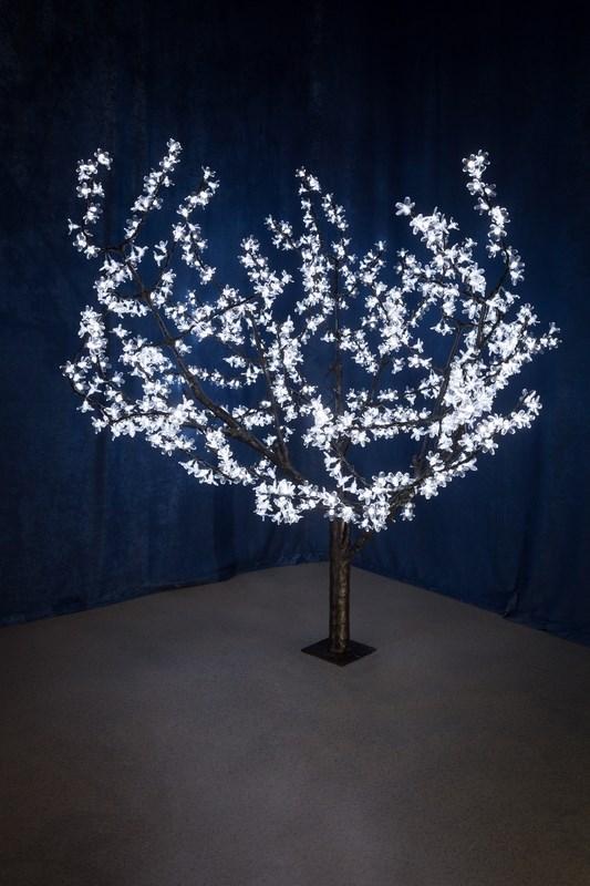 Светодиодное дерево Neon-Night Сакура, цвет: белый, диаметр кроны 180 см, высота 150 см531-105Световое дерево Сакура светодиодное, диаметр 1,8 м, высота 1,5 м, 864 лепестка