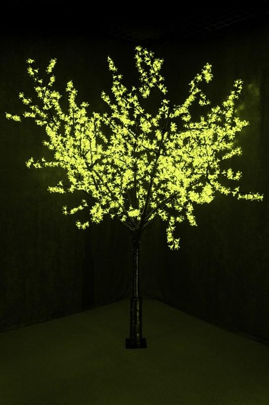 Светодиодное дерево Neon-Night Сакура, цвет: зеленый, диаметр кроны 200 см, высота 240 см531-124Световое дерево Сакура светодиодное, диаметр 2,0 м, высота 2,4 м, 1728 лепестков, зеленый.