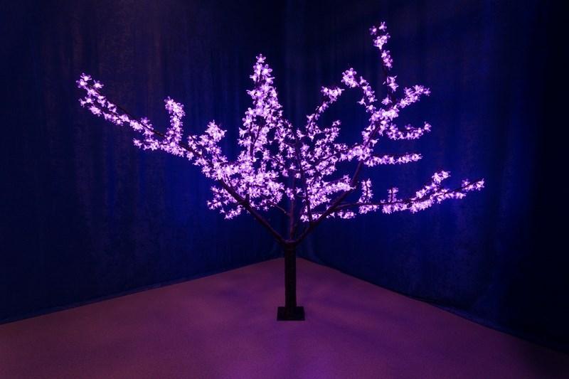 Светодиодное дерево Neon-Night Сакура, цвет: фиолетовый, высота 170 см531-131Дерево уличное Сакура, высота 1,7 метра, 1000 светодиодов фиолетового цвета, фиолетовый цвет цветов, 200V to 24V трансформатор