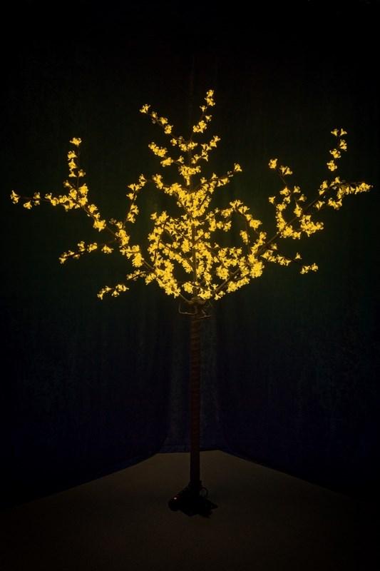 Светодиодное дерево Neon-Night Сакура, цвет: желтый, диаметр кроны 170 см, высота 240 см531-321Светящееся дерево Сакура, 2,4 м, диаметр 1,72м, 600 диодов, цвет желтый, с понижающим трансформатором, 230В-12В, 36Вт