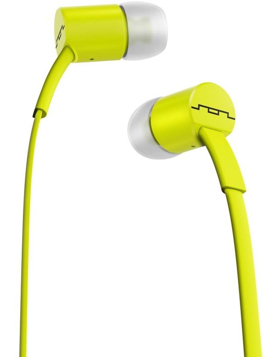 Sol Republic 1112-30 Jax Sb, Lemon Lime наушники1112-30Детальная проработка музыкальной сцены Легкое и воздушное звучание Удобный размер вкладыша Превосходная шумоизоляция Микрофон Плоский, неспутывающийся кабель