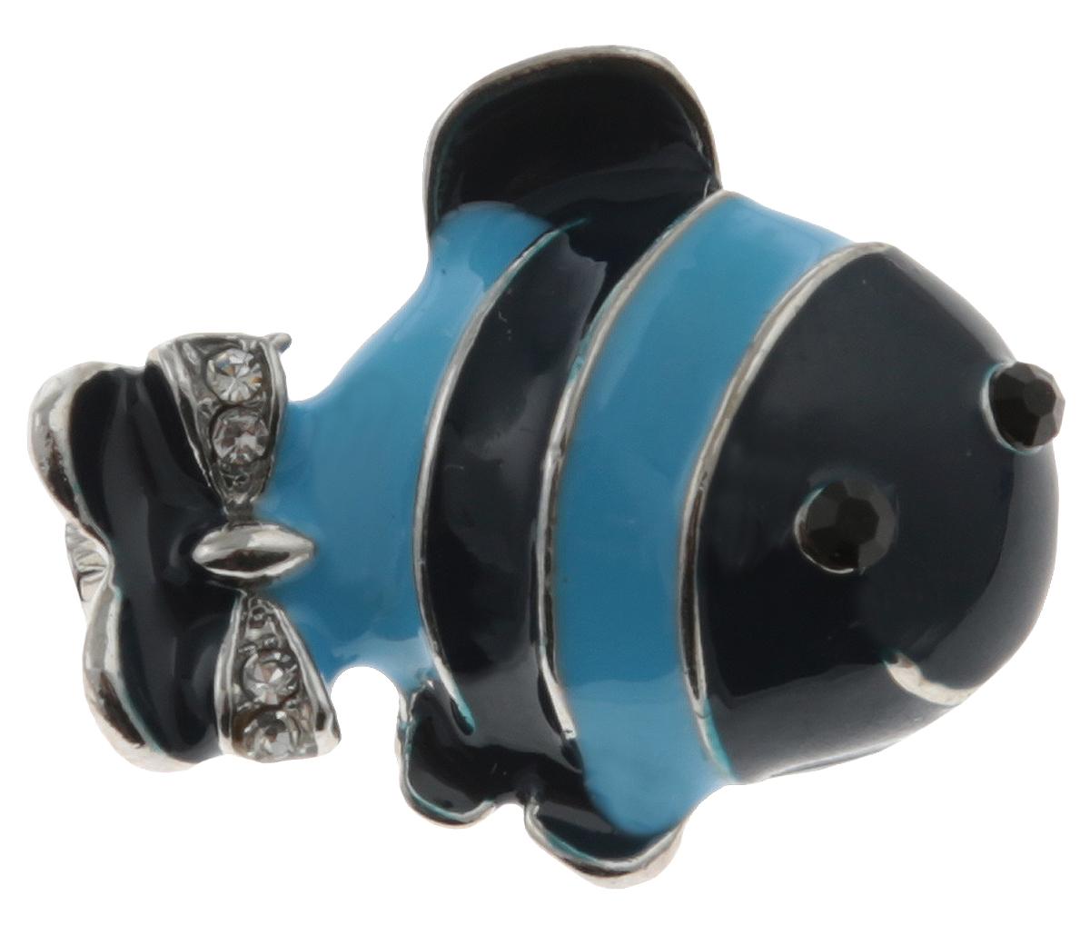Брошь Рыбка от Arrina. Эмаль синего и голубого цвета, прозрачные стразы, бижутерный сплав серебряного тона. ГонконгОС28529Брошь Рыбка от Arrina. Эмаль синего и голубого цвета, прозрачные стразы, бижутерный сплав серебряного тона. Гонконг. Размер: 2,5 х 1,5 см. Тип крепления - булавка с застежкой.