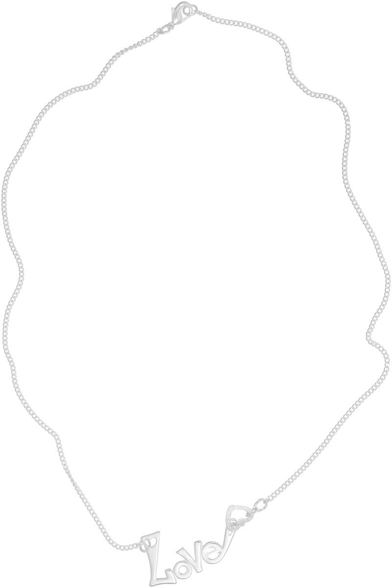 Колье Vittorio Richi, цвет: серебристый. 91558094vr91558094vrКулон Vittorio Richi изготовлен из серебра и металла. Декоративный элемент выполнен в виде надписи Love и сердечка. Застегивается кулон с помощью замка-карабина, а длина регулируется с помощью звеньев.