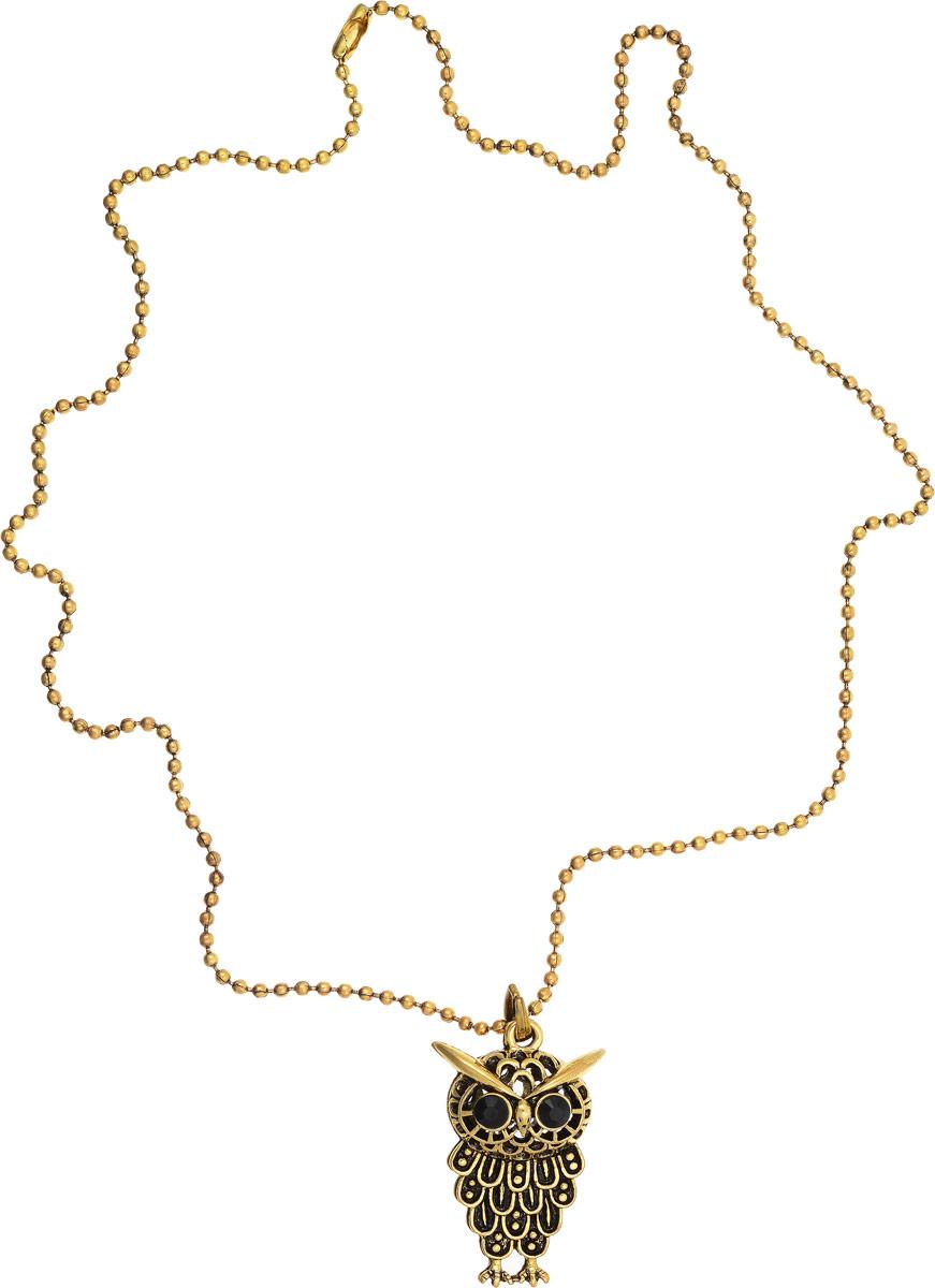 Кулон Vittorio Richi, цвет: золотистый. 9641504vr9641504vrКулон Vittorio Richi изготовлен из металла. Объемный декоративный элемент выполнен в виде совы и оформлен вставками из страз.