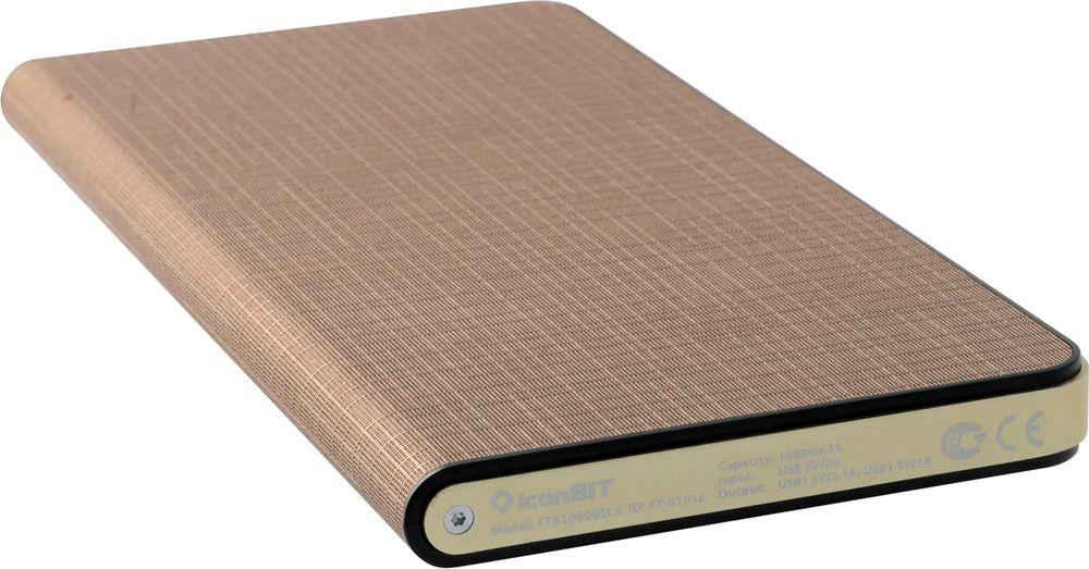 IconBIT FTB10000SLS, Brown Gold внешний аккумулятор