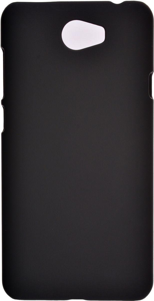 Skinbox 4People чехол для Huawei Y5II + защитная пленка, Black2000000114798Чехол Skinbox 4People для Huawei Y5II надежно защищает ваш смартфон от внешних воздействий, грязи, пыли, брызг. Он также поможет при ударах и падениях, не позволив образоваться на корпусе царапинам и потертостям. Чехол обеспечивает свободный доступ ко всем функциональным кнопкам смартфона и камере. В комплект идет защитная пленка на экран устройства.