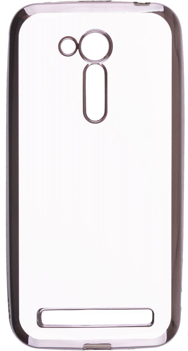 Skinbox Silicone Chrome Border 4People чехол для Asus Zenfone Go ZB452KG/ZB450KL, Dark Silver