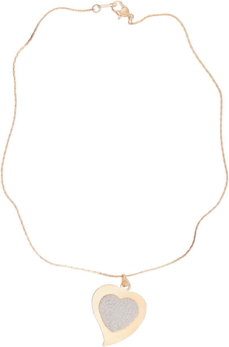 Кулон Vittorio Richi, цвет: золотистый. 9236065vr9236065vrКулон Vittorio Richi выполнен из металла. Декоративный элемент выполнен в виде сердца, украшенного блестками. Изделие застегивается с помощью замка-карабина.