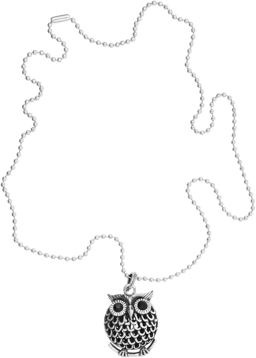 Кулон Vittorio Richi, цвет: серебристый. 9641501vr9641501vrКулон Vittorio Richi выполнен из металла. Объемный декоративный элемент выполнен в виде совы, украшенной вставками из страз.