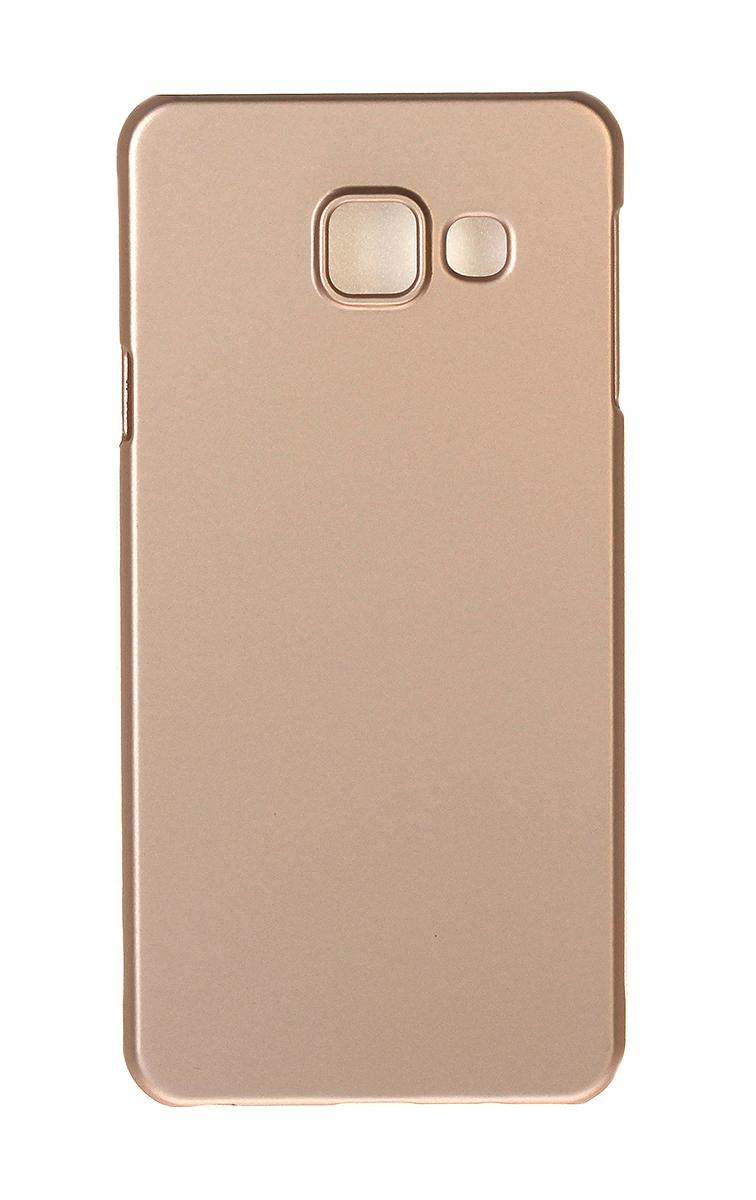 Pulsar Clipcase PC Soft-Touch чехол для Samsung Galaxy A3 2016, Gold21900Чехол Pulsar Clipcase PC Soft-Touch для Samsung Galaxy A3 (2016) бережно и надежно защитит ваш смартфон от пыли, грязи, царапин и других повреждений. Выполнен из высококачественных материалов, плотно прилегает и не скользит в руках. Чехол оставляет свободным доступ ко всем разъемам и кнопкам устройства.