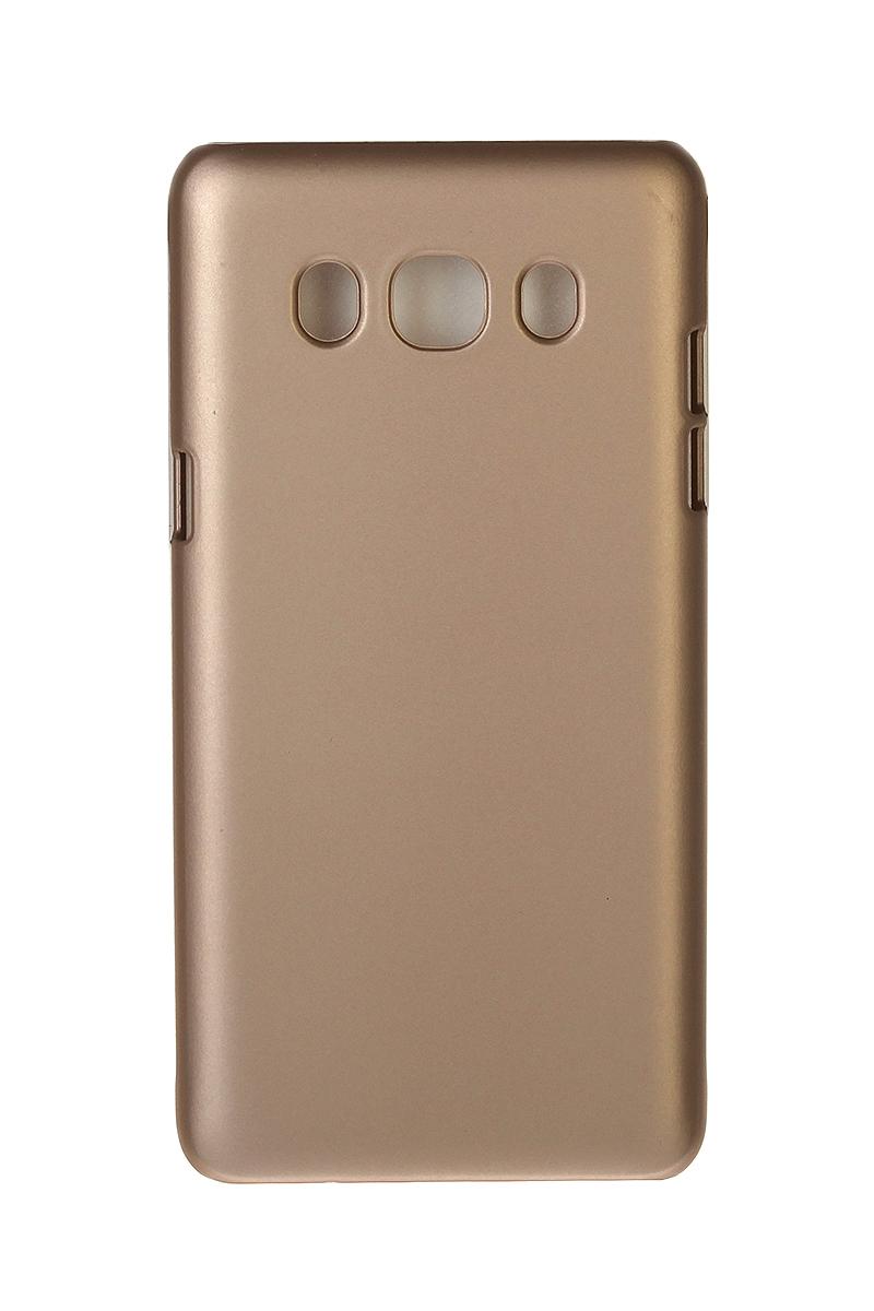 Pulsar Clipcase PC Soft-Touch чехол для Samsung Galaxy J5 2016, Gold21904Чехол Pulsar Clipcase PC Soft-Touch для Samsung Galaxy J5 (2016) бережно и надежно защитит ваш смартфон от пыли, грязи, царапин и других повреждений. Выполнен из высококачественных материалов, плотно прилегает и не скользит в руках. Чехол оставляет свободным доступ ко всем разъемам и кнопкам устройства.