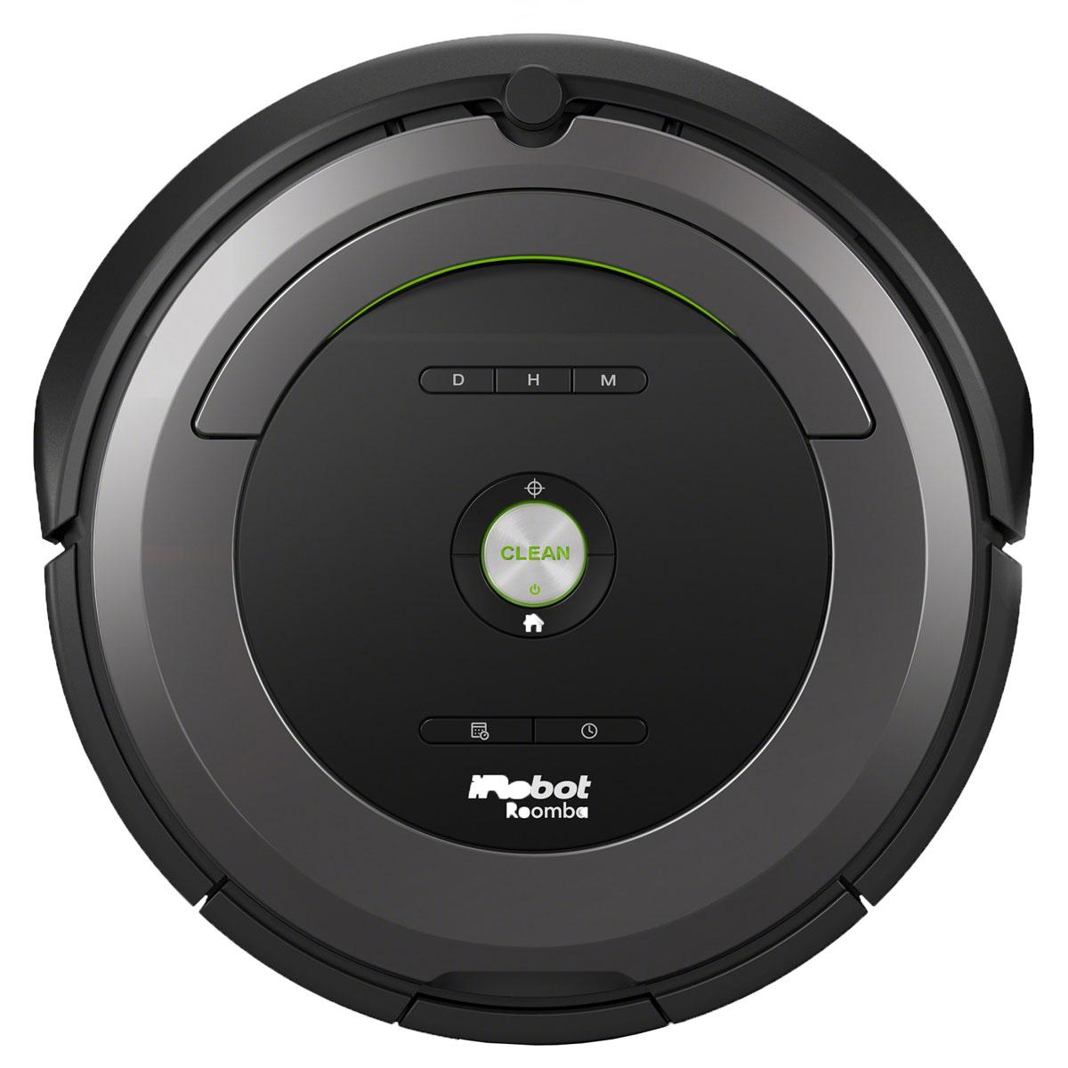 iRobot Roomba 681 робот-пылесосR681iRobot Roomba 681 – робот-пылесос от известной компании iRobot, который рекомендован для уборки как небольших квартир, так и достаточно габаритных жилых помещений. Модель Roomba 681 объединила в себе всё, чем могут похвастаться роботизированные воины с грязью в доме. Небольшие габариты и мощный функционал – основные преимущества данной модели. Он удобен и в использовании, и в обслуживании. На верхней панели имеется большая кнопка CLEAN, которую достаточно нажать для того, чтобы запустить процесс уборки. Все остальное робот сделает сам. Он самостоятельно ориентируется в пространстве, находит препятствия и обходит их, добирается до самых укромных мест, чистит те места на полу, которые наиболее загрязнены и так далее. Что касается обслуживания, то здесь все максимально просто. При необходимости требуется периодическая чистка накопительной емкости для мусора и щеток, которые собирают весь мусор. На это требуется затрачивать не более нескольких минут....