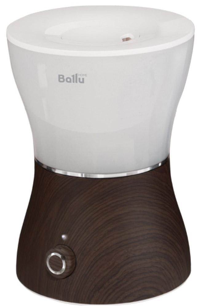 Ballu UHB-400, Wenge ультразвуковой увлажнитель воздухаНС-1031481Ультразвуковой увлажнитель воздуха Ballu UHB-400 обеспечивает мягкое увлажнение и способствует созданию благоприятного микроклимата в доме. Плавные формы, удобное и интуитивно понятное управление. Исполнение прибора в текстуре под дерево подчеркивает идею гармоничного сосуществования высоких технологий и природы, и гармонично сочетается с мебелью в доме. Прибор удобен в эксплуатации - для увлажнения можно заливать водопроводную воду. Благодаря входящему в комплект фильтру-картриджу вода очищается от излишков солей жесткости. Аромакапсула позволит насытить воздух в помещении любимым ароматом. Мягкая подсветка бака позволяет использовать увлажнитель в качестве ночника.