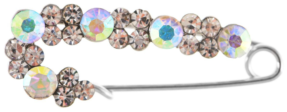 Брошь Vittorio Richi, цвет: серебристый. 9102657vr9102657vrБрошь Vittorio Richi изготовлена из металла и оформлена вставками из страз разного размера.Изделие застегивается с помощью замка-булавки.