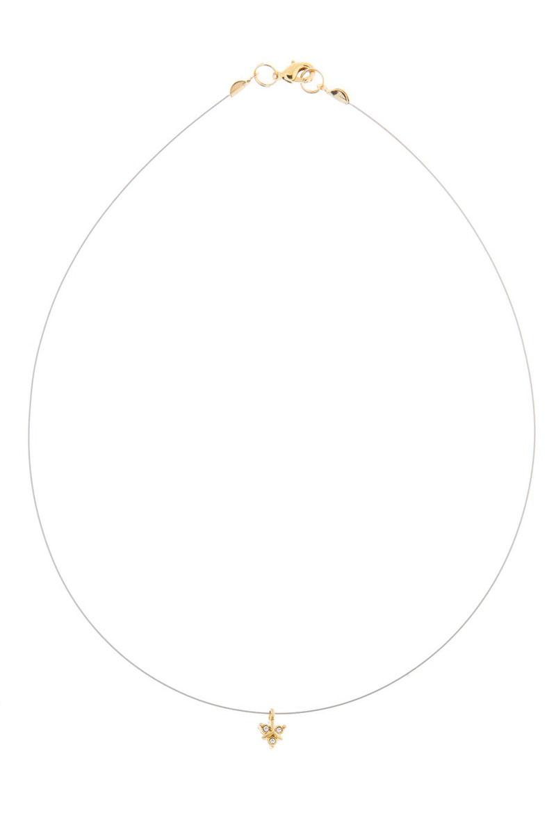 Кулон Jenavi Эюя, цвет: золотой, белый. K493p900k493p900Коллекция Э, Эюя (Кулон) гипоаллергенный ювелирный сплав,Позолота, вставка Кристаллы Swarovski