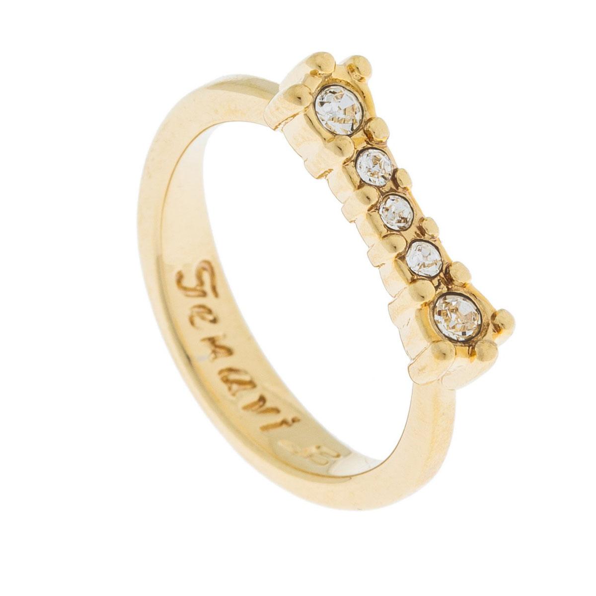 Кольцо Jenavi Эми, цвет: золотой, белый. k497p000. Размер 17k497p000Коллекция Э, Эми (Кольцо) гипоаллергенный ювелирный сплав,Позолота, вставка Кристаллы Swarovski