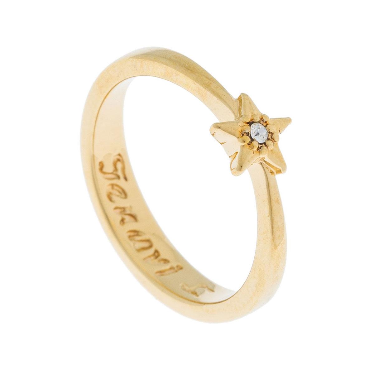 Кольцо Jenavi Энта, цвет: золотой, белый. k500p000. Размер 17k500p000Коллекция Э, Энта (Кольцо) гипоаллергенный ювелирный сплав,Позолота, вставка Кристаллы Swarovski