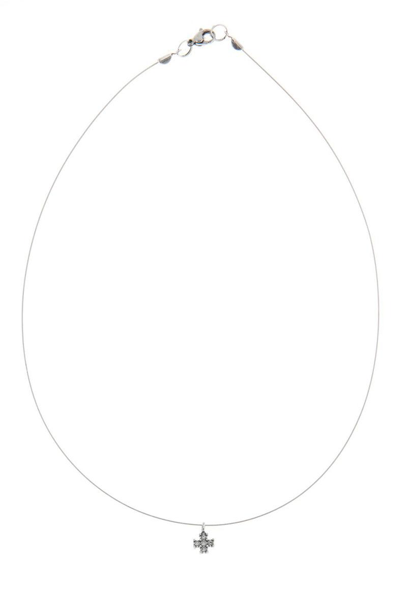 Кулон Jenavi Эза, цвет: серебро, белый. K5023900k5023900Коллекция Э, Эза (Кулон) гипоаллергенный ювелирный сплав,Черненое серебро, вставка Кристаллы Swarovski
