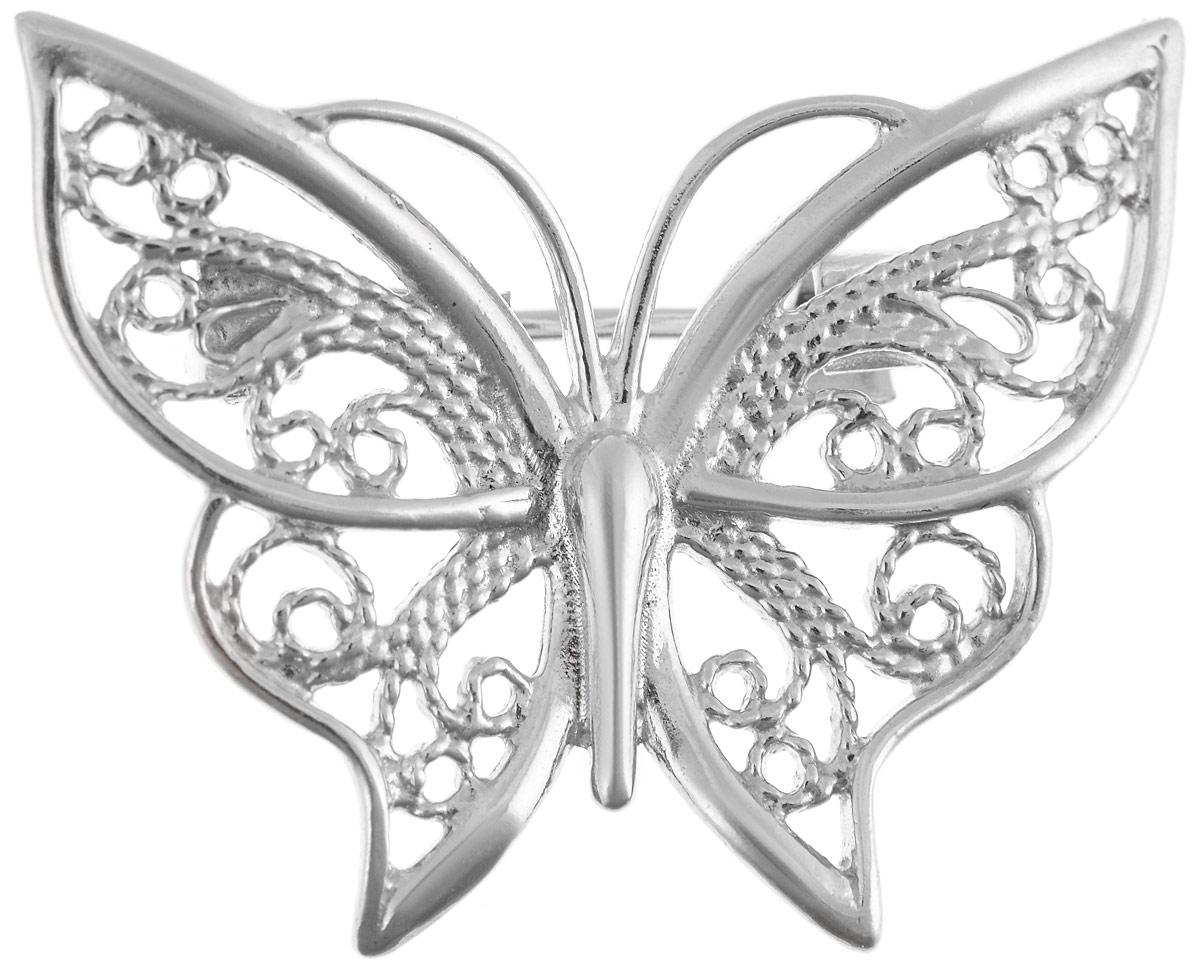 Брошь Vittorio Richi, цвет: серебристый. 91557699vr91557699vrБрошь Vittorio Richi изготовлена из металла с гальваническим покрытием из золота. Декоративный элемент выполнен в виде бабочки. Изделие застегивается с помощью замка-булавки.