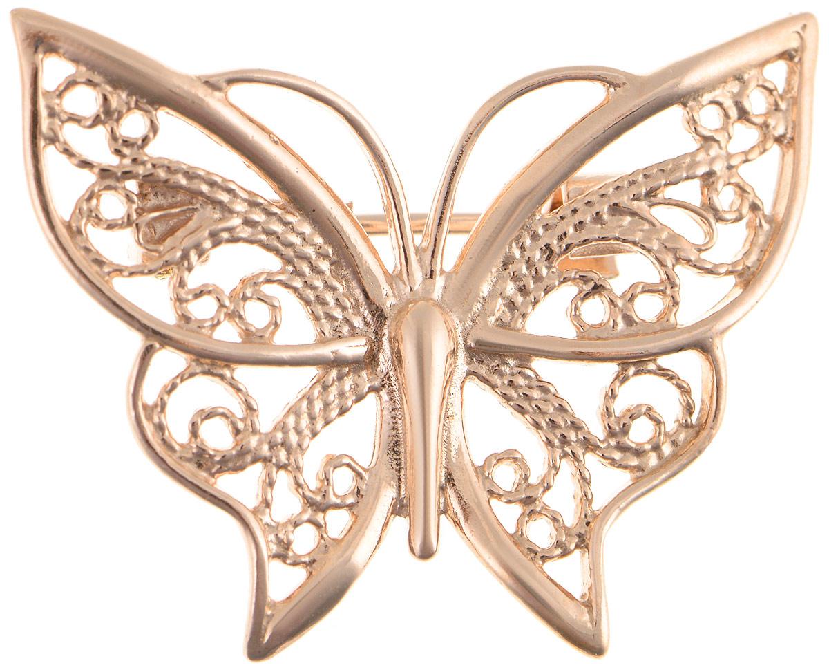 Брошь Vittorio Richi, цвет: золотистый. 91557700vr91557700vrБрошь Vittorio Richi изготовлена из металла с гальваническим покрытием из золота. Декоративный элемент выполнен в виде бабочки. Изделие застегивается с помощью замка-булавки.