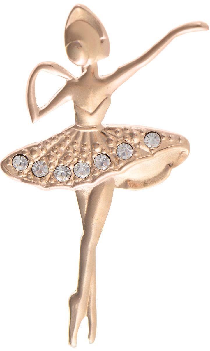 Брошь Vittorio Richi, цвет: золотистый. 91558229vr91558229vrБрошь Vittorio Richi изготовлена из металла с гальваническим покрытием из золота. Декоративный элемент выполнен в виде балерины, оформленной стразами. Изделие застегивается с помощью замка-булавки.
