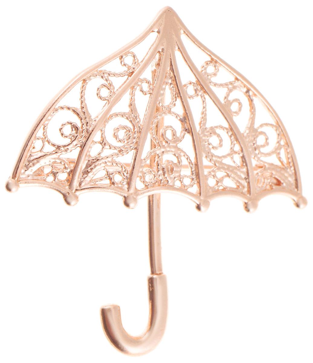 Брошь Vittorio Richi, цвет: золотистый. 91557702vr91557702vrБрошь Vittorio Richi изготовлена из металла с гальваническим покрытием из золота. Декоративный элемент выполнен в виде зонта. Изделие застегивается с помощью замка-булавки.