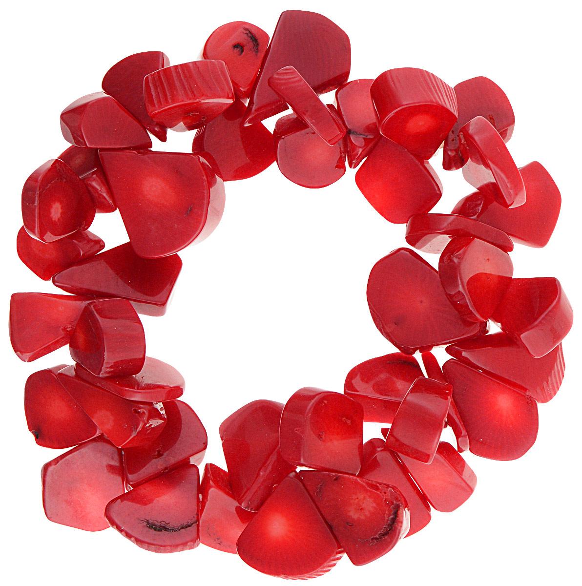 Браслет Vittorio Richi, цвет: темно-красный. 91523651vr91523651vrБраслет Vittorio Richi с эластичной резинкой из силикона оформлен фигурками разной формы из натурального камня.