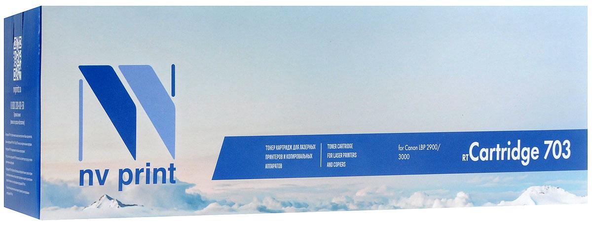 NV Print NV-703, Black тонер-картридж для Canon i-Sensys LBP 2900/3000NV-703Совместимый лазерный картридж NV Print NV-703 для печатающих устройств Canon - это альтернатива приобретению оригинальных расходных материалов. При этом качество печати остается высоким. Картридж обеспечивает повышенную чёткость чёрного текста и плавность переходов оттенков серого цвета и полутонов, позволяет отображать мельчайшие детали изображения. Лазерные принтеры, копировальные аппараты и МФУ являются более выгодными в печати, чем струйные устройства, так как лазерных картриджей хватает на значительно большее количество отпечатков, чем обычных. Для печати в данном случае используются не чернила, а тонер.
